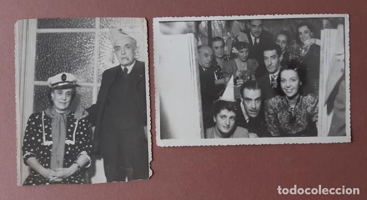 LOTE 2 ANTIGUAS FOTOGRAFÍAS FIESTA FIN DE AÑO. 1948. FOTO VÁZQUEZ MOLERO. MADRID. AÑOS 40. (Fotografía - Artística)