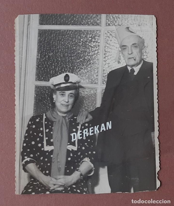 Fotografía antigua: LOTE 2 ANTIGUAS FOTOGRAFÍAS FIESTA FIN DE AÑO. 1948. FOTO VÁZQUEZ MOLERO. MADRID. AÑOS 40. - Foto 2 - 210590578