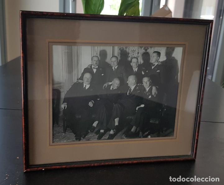 ANTIGUA FOTOGRAFIA ENMARCADA AÑOS 20 - BARCELONA - GRUPO DE EMPRESARIOS. FOTO JOAN GASPAR (Fotografía - Artística)