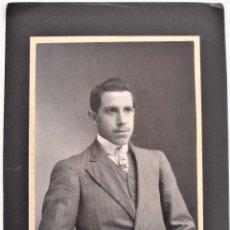 Fotografía antigua: ESPECTACULAR RETRATO DE UN JOVEN - EMILIO G. LOBATO, SAN LUIS POTOSI, MÉXICO - PRINCIPIOS SIGLO XX. Lote 210940136