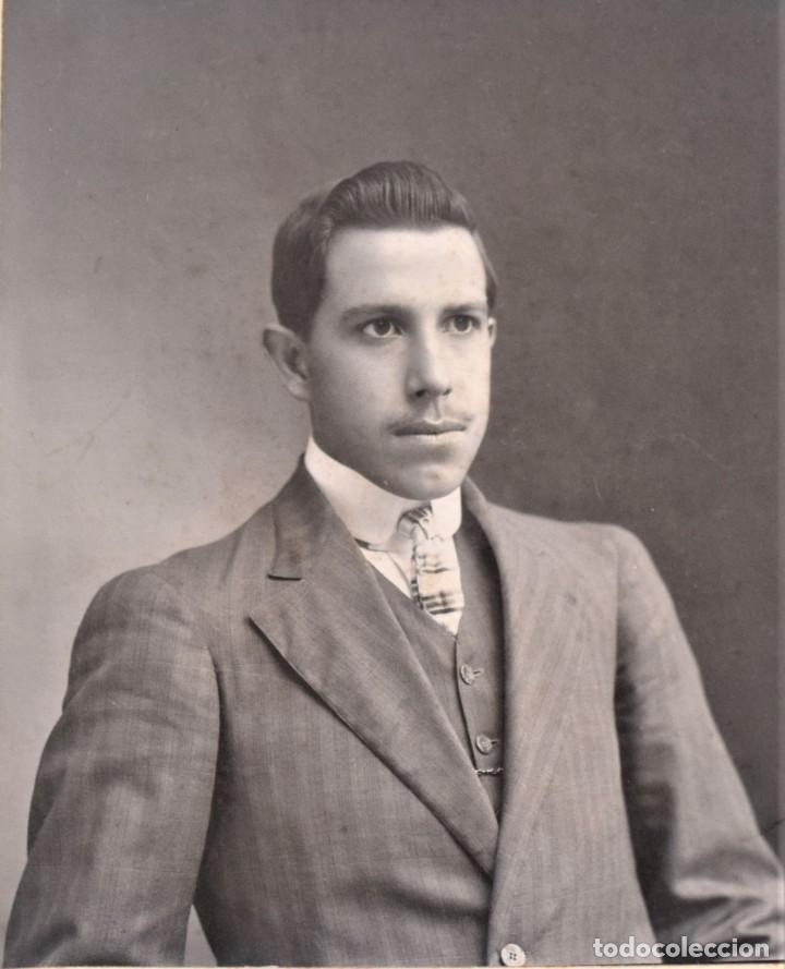 Fotografía antigua: ESPECTACULAR RETRATO DE UN JOVEN - EMILIO G. LOBATO, SAN LUIS POTOSI, MÉXICO - PRINCIPIOS SIGLO XX - Foto 2 - 210940136