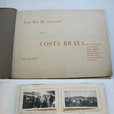 Fotografía antigua: COSTA BRAVA-ALBUM CON MUCHAS FOTOGRAFIAS-AGOSTO 1944-VER FOTOS-(V-21.181). Lote 210963377