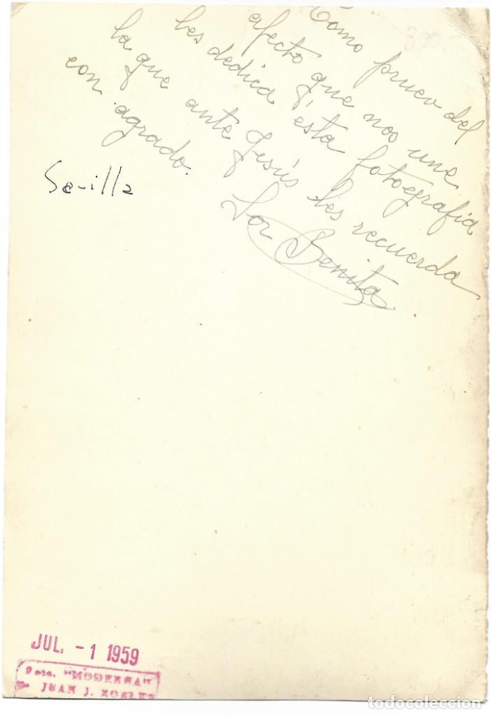 Fotografía antigua: RETRATO DE UNA MONJA - FECHADA EN SEVILLA JULIO 1959 - Foto 2 - 211396026