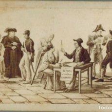 Fotografía antigua: ILUSTRACIÓN DE UN ESCRIBANO PÚBLICO. EDITOR MIGLIORATO, TOLEDO. TAMAÑO 106 X 70MM. Lote 211731333