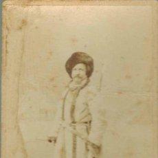 Fotografía antigua: FOTOGRAFÍA CIRCASIANO. APROXIMADAMENTE 1880. TAMAÑO 100 X 61 MM. Lote 211732306