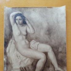 Fotografía antigua: DESNUDO FEMENINO DE JOAQUIM SUNYER. FOTOGRAFÍA B/N GRAN FORMATO DE FRANCESC SERRA CA.1928. Lote 211895962