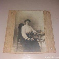 Fotografía antigua: FOTOGRAFÍA ANTIGUA. SOBRE CARTÓN, SEÑORITA DE BILBAO, AGOSTO DE 1911. Lote 212308622