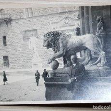 Fotografía antigua: FOTOGRAFIA ANTIGUA AÑOS 40 DAVID DE MIGUEL ANGEL - FLORENCIA - PIAZZA DELLA SIGNORIA. Lote 213434186