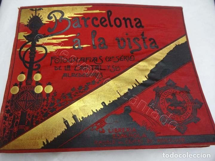 BARCELONA A LA VISTA. FOTOGRAFÍAS DE LA CAPITAL Y ALREDEDORES. ALBUM LIBRERIA ESPAÑOLA (Fotografía - Artística)