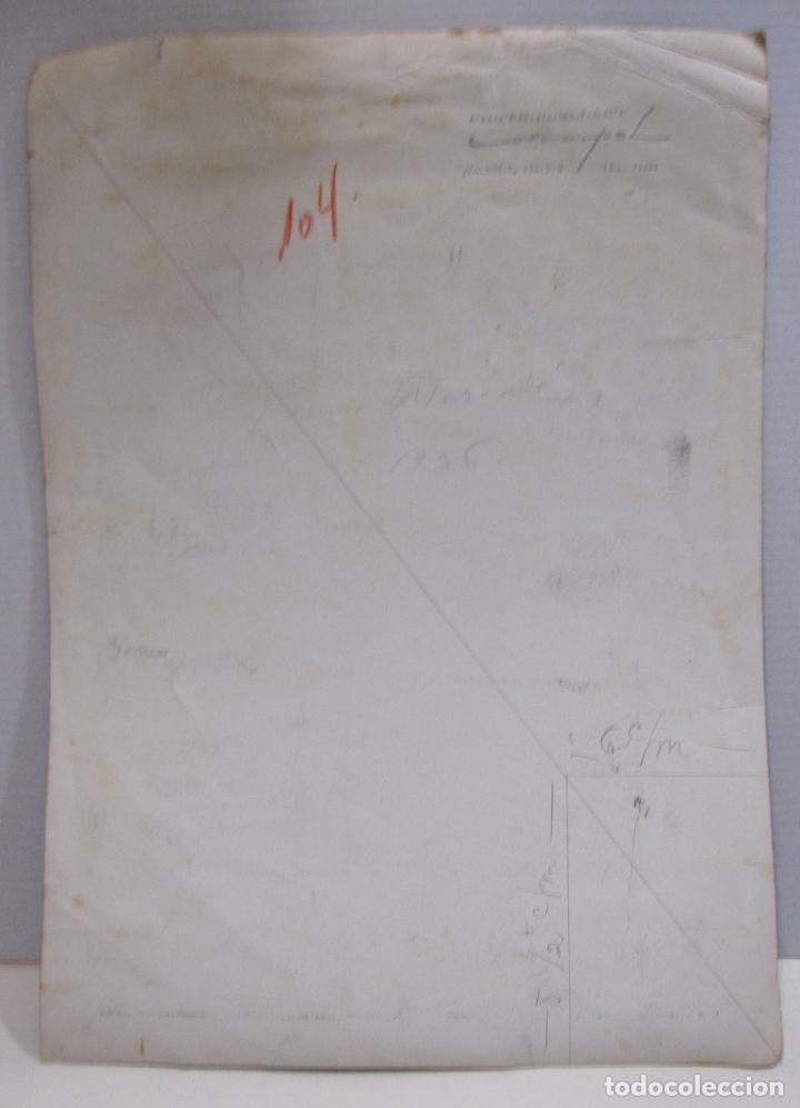 Fotografía antigua: FOTOGRAFIA DEL ARTISTA JAUME MERCADÉ .1936. FOTO DE JOSÉ COMPTE ARGIMON, 30 X 22 CM - Foto 7 - 215134360