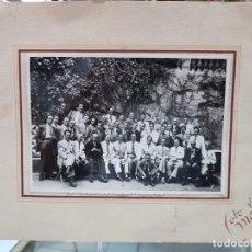 Fotografía antigua: ANTIGUA FOTOGRAFIA GRUPO PERSONALIDADES BARCELONA FOTO MATEO 1943 25 X 20. Lote 215875511