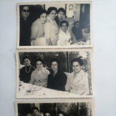 Fotografía antigua: 3 FOTOS DE UNA CELEBRACIÓN, FOTO JUMAN. Lote 215937812