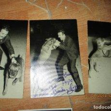 Fotografía antigua: CIRCO DOMADOR ADIESTRADOR DE PERROS ROTTWEILER ATRACCION FERIA LOTE FOTOS ANTIGUAS FIRMADAS. Lote 27231475
