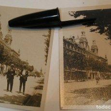 Fotografía antigua: LOTE 2 FOTO FOTOGRAFIAS CIUDAD AÑOS 20 (20-9-2). Lote 216848872