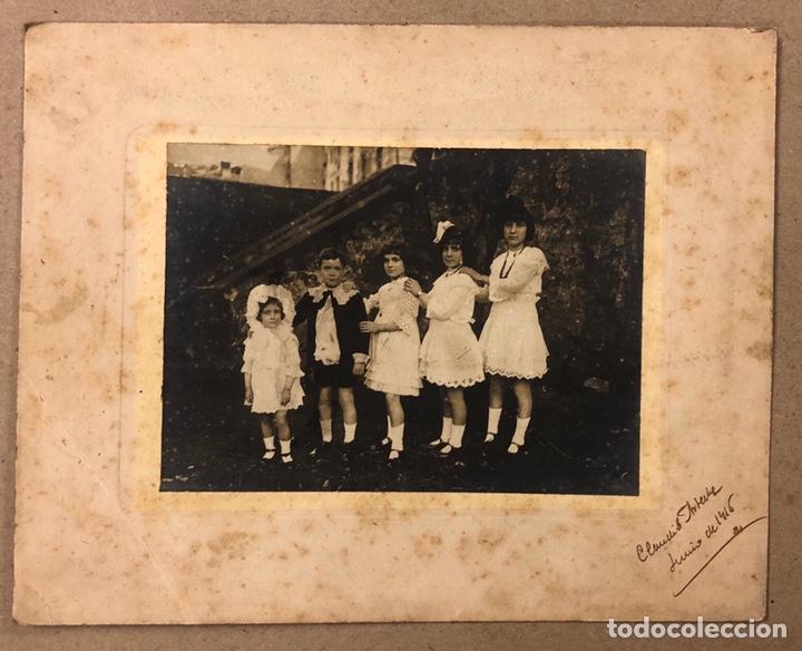 HERMANOS. ANTIGUA FOTOGRAFÍA RETRATO DE 1916. FOTO: CLAUDIO ARTECHE. (Fotografía - Artística)