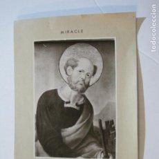 Fotografía antigua: MIRACLE-SANT PERE-RETAULE SEGLE XIV-FOTOGRAFIA ANTIGUA-VER FOTOS-(K-251). Lote 217279707