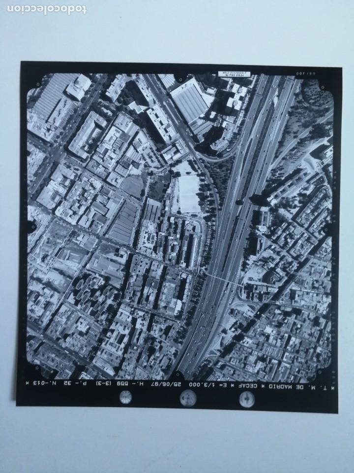 ANTIGUA FOTOGRAFIA AÉREA DE MADRID EJERCITO DEL AIRE - 1997 - M-30, CIUDAD DE BARCELONA, NUMANCIA, A (Fotografía - Artística)