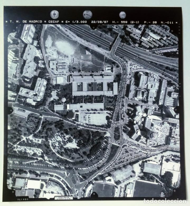 FOTOGRAFIA AÉREA DE MADRID EJERCITO DEL AIRE - 1997 - HOSPITAL DE LA PAZ, ARZOBISPO MORCILLO, PARQUE (Fotografía - Artística)