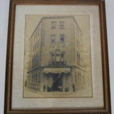 Fotografía antigua: ANTIGUA FOTOGRAFÍA - GRAN HOTEL, ANTIGUA FONDA QUIMET, SANTA COLOMA DE FARNERS - FOTO FREIXAS 1919. Lote 219377123