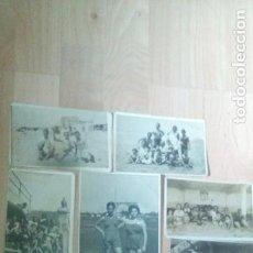Fotografía antigua: LOTE DE 7 FOTOGRAFIAS DE BAÑISTAS EN PLAYA Y ALEDAÑOS DEL SUR. Lote 219499172