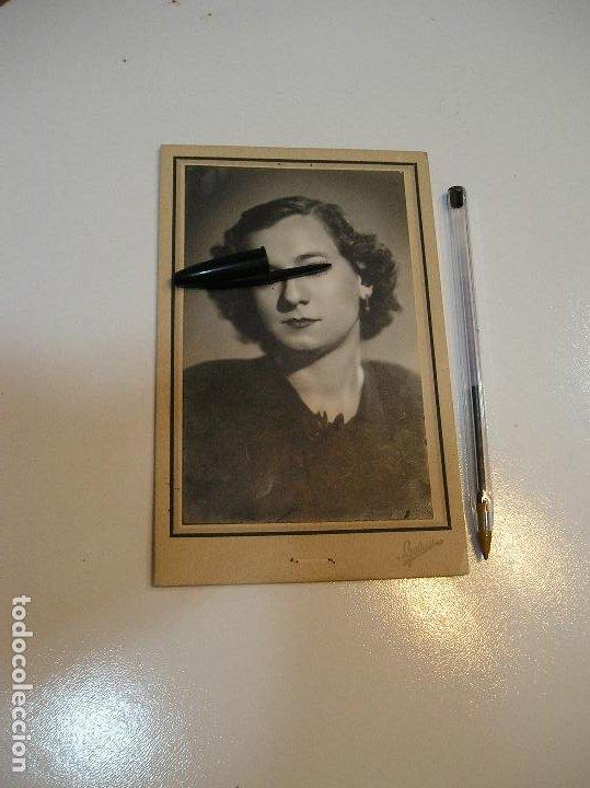 ANTIGUA FOTO FOTOGRAFIA CARTON CHICA JOVEN (20-10-2) (Fotografía - Artística)