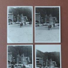 Fotografía antigua: LOTE 4 ANTIGUAS FOTOGRAFÍAS BASÍLICA DE COVADONGA. ASTURIAS. AÑOS 60. PAJE.. Lote 221703323