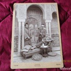 Fotografía antigua: PAREJA POSANDO. FOTOGRAFIA LINARES.- GRANADA, TOLEDO, SEVILLA. MIDE: 24,5 X 17,5 CMS.. Lote 221708038