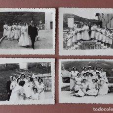 Fotografía antigua: LOTE 4 FOTOGRAFÍAS BODA. ENFERMERAS. HOSPITAL MURIAS. FOTO ZAPICO. MIERES. AÑOS 50. TERESA PAJE.. Lote 222263410