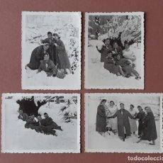 Fotografía antigua: LOTE 4 FOTOGRAFÍAS ENFERMERAS NIEVE HOSPITAL MURIAS. FOTO VEGA. MIERES. 1957. AÑOS 50. TERESA PAJE.. Lote 222269790