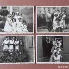 Fotografía antigua: LOTE 4 FOTOGRAFÍAS ENFERMERAS. MIERES. AÑOS 50. TERESA PAJE.. Lote 222274185