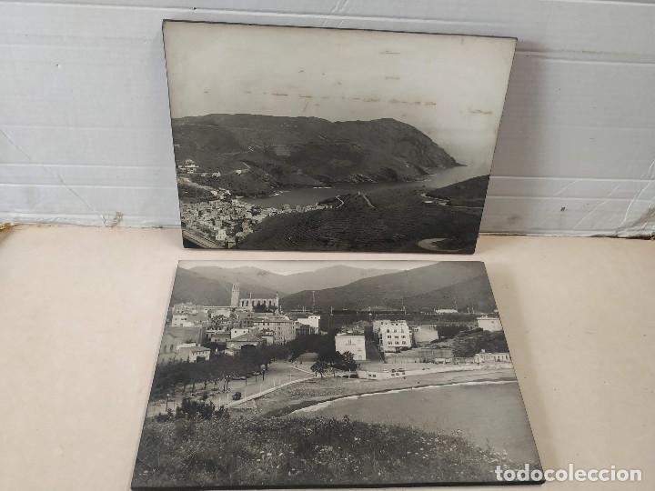 2 FOTOS DE PORTBOU - SOBRE MADERA - MIDEN 28X40CM (Fotografía - Artística)