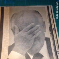 Fotografía antigua: MIKHAIL GORBACHEV - SOVIET CONGRESS MOSCOW 5 SEPT 1991 - TELEFOTO SATELITE ATLANTICO EFE. Lote 222377240