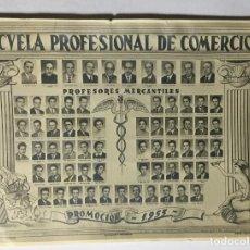Fotografía antigua: ZARAGOZA , ARAGÓN , ESCUELA PROFESIONAL DE COMERCIO , FOTOGRAFÍA POMARON 1955 , 15X11CM.. Lote 222816457