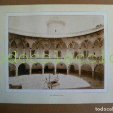 Fotografía antigua: FOTOGRAFIA LAMINA DEL PATIO DEL CASTILLO DE BELLVER - 100 AÑOS DE FOTOGRAFIA Nº 102. Lote 222857127