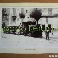 Fotografía antigua: FOTOGRAFIA LAMINA DEL TREN DEL PUERTO - 100 AÑOS DE FOTOGRAFIA Nº 63. Lote 222859243