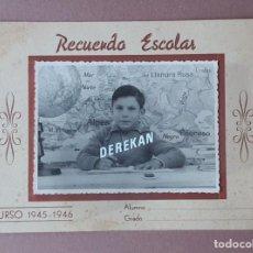 Fotografía antigua: ANTIGUA FOTOGRAFÍA ESCOLAR. FOTO CORTÉS. BARCELONA. 1945-1946. AÑOS 40. ANTONIO SEGURA.. Lote 223128601
