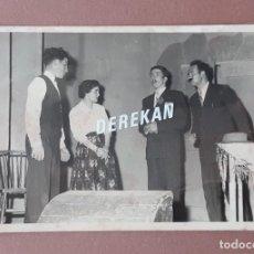 Fotografía antigua: ANTIGUA FOTOGRAFÍA ACTORES TEATRO RIBERA D´ONDARA GÓMEZ GRAU CERVERA LÉRIDA. AÑOS 50. ANTONIO SEGURA. Lote 223368587