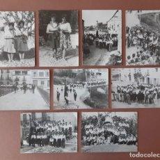 Fotografía antigua: LOTE 9 FOTOGRAFÍAS DESFILE SANT ANTOLÍ I VILANOVA. FERNANDO SIRERA. LÉRIDA. AÑOS 50. ANTONIO SEGURA.. Lote 223371302