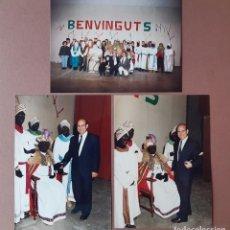 Fotografía antigua: LOTE 3 FOTOGRAFÍAS REYES MAGOS. LÉRIDA. AÑOS 80-90. ANTONIO SEGURA.. Lote 223390827