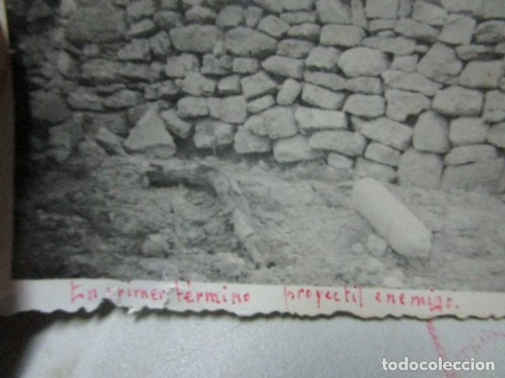 Fotografía antigua: MADRUGADA MUNICIONAN MULOS PROYECTIL ENEMIGO BATALLA DEL EBRO 1939 GUERRA CIVIL LEGION FIRMADA - Foto 7 - 120946595