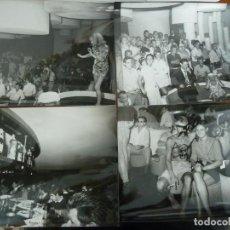 Fotografia antica: MADDOX PLATJA D'ARO 4 FOTOS ORIGINALES ANTIGUAS DE LA DISCOTECA AÑOS 60 GAUCHE DIVINE BOCACCIO. Lote 224868055