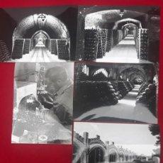 Fotografía antigua: LOTE DE 5 FOTOGRAFIAS DE LA BODEGA / MUSEO CODORNIU EN SANT SADURNI D´ANOIA ( BARCELONA ). Lote 225283602