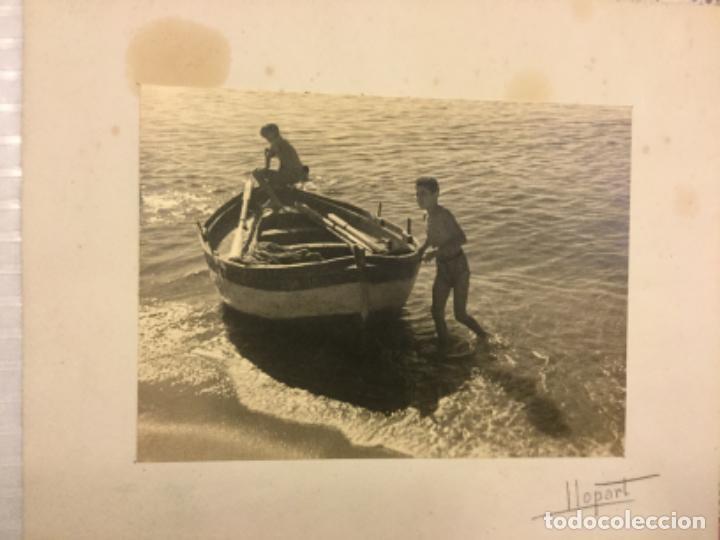 Fotografía antigua: [Barca] / Llopart. fotografia: 16x22 cm. ( Suport 32x16,5 cm). Anys 40 - Foto 2 - 225347951