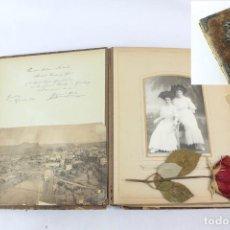 Fotografía antigua: GRAN ÁLBUM SXIX A PP SXX FAMILIA MANRESA Y ALLEGADOS EN EUROPA. CON INSCRIPCIONES. 64 FOTOS. Lote 227054460