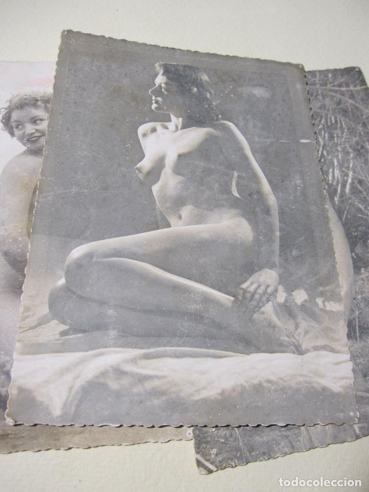 Fotografía antigua: SEIS FOTOGRAFIAS DE DESNUDOS FEMENINOS. HACIA 1940?. 15 X 10,5 CM - Foto 4 - 227601725