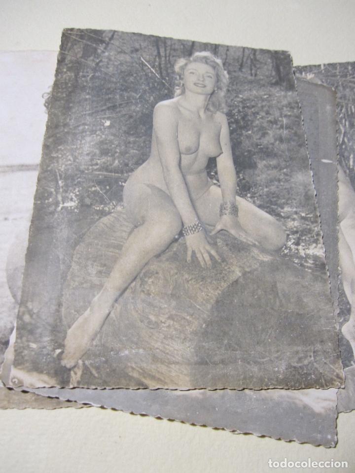Fotografía antigua: SEIS FOTOGRAFIAS DE DESNUDOS FEMENINOS. HACIA 1940?. 15 X 10,5 CM - Foto 5 - 227601725