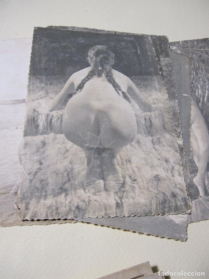 Fotografía antigua: SEIS FOTOGRAFIAS DE DESNUDOS FEMENINOS. HACIA 1940?. 15 X 10,5 CM - Foto 6 - 227601725