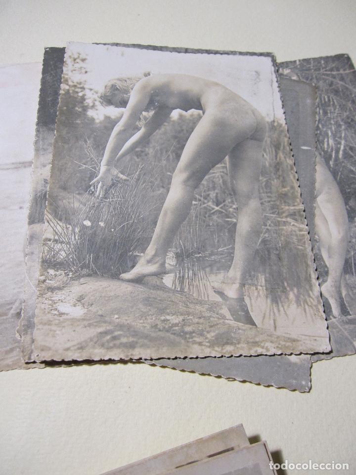 Fotografía antigua: SEIS FOTOGRAFIAS DE DESNUDOS FEMENINOS. HACIA 1940?. 15 X 10,5 CM - Foto 7 - 227601725