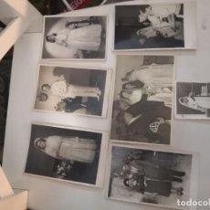 Fotografía antigua: 7 FOTOGRAFÍAS ANTIGUAS TROQUELADAS COMUNIÓN Y OTRAS. Lote 227980435
