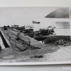 Fotografía antigua: FOTOGRAFIA BARCAS PESQUERAS DEL PUERTO DE MAZARRON - MURCIA- AÑOS 70-80. Lote 228194100
